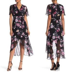 NWT Eliza J Dress High/Low Floral Print Size 8